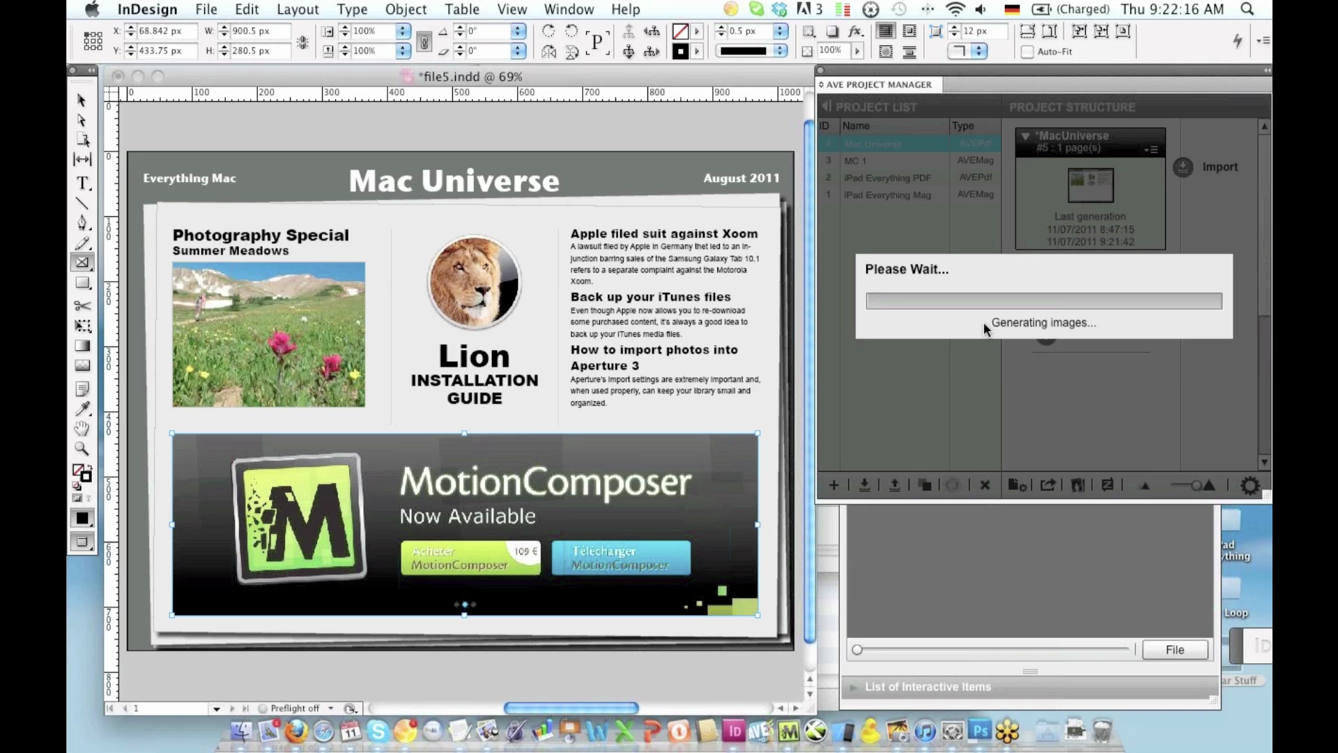 How to use MotionComposer to publish HTML5 content to iPad.